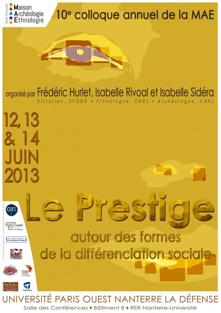 Affiche Colloque Le Prestige © Carole Duval