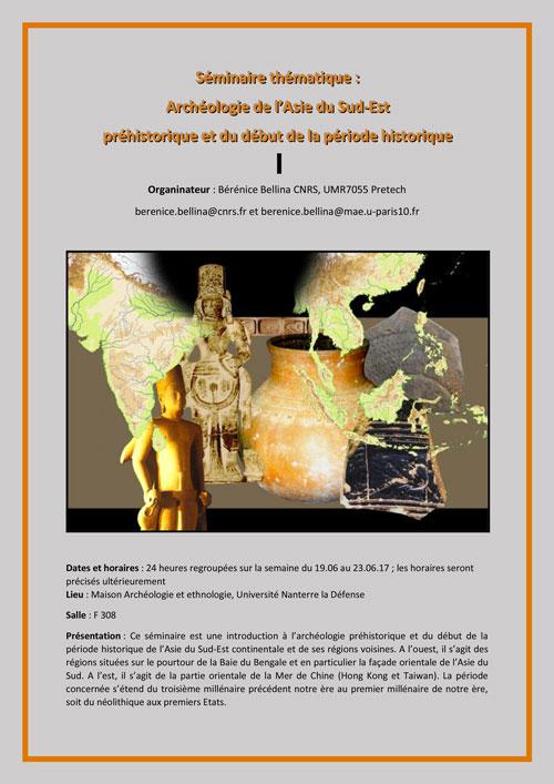Seminaire thématique d'Archéologie de l'Asie du Sud-Est