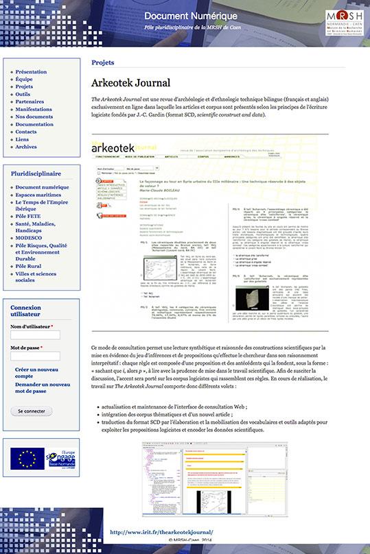 Publication numérique Arkeotek